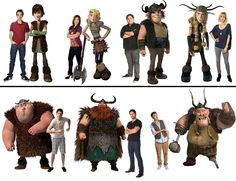 How to Train Your Dragon characters.