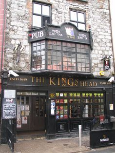 Galway Ireland: The King's Head Pub! Best pub in Galway:) Oh The Places You'll Go, Places Ive Been, Boutiques, England And Scotland, Emerald Isle, In Boston, Ireland Travel, British Isles, Northern Ireland