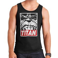 Thanos Titan Obey Logo Men's Vest *** You can get more details by clicking on the image.