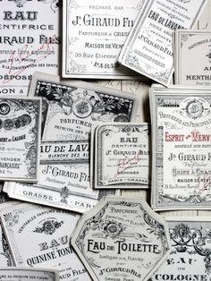 Antique Jn. Giraud Fils Labels. France.