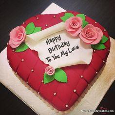 Birthday Cake For Boyfriend, Birthday Cake For Him, Special Birthday Cakes, Birthday Cake With Photo, Birthday Wishes Cake, Birthday Cakes For Women, Birthday Love, Happy Birthday Cakes, Birthday Images
