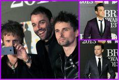 Muse, Robbie Williams y Justin Timberlake en la alfombra de los BRIT Awards. Fotos: AP