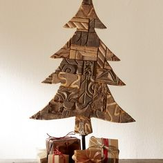 Handcarved Wooden Printing Block Holiday Tree | VivaTerra