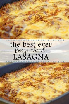 The Best Freeze Ahead Lasagna Recipe Crock Pot Recipes, Beef Recipes, Cooking Recipes, Recipes To Freeze, Meals To Freeze, Cooking Tips, Lasagna Recipes, Freezer Recipes, Cleaning Recipes