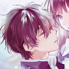 - Save = follow me. #Shi Manga Couple, Anime Love Couple, Cute Anime Couples, Fan Anime, Anime Manga, Anime Guys, Anime Couples Drawings, Couple Drawings, Hyouka