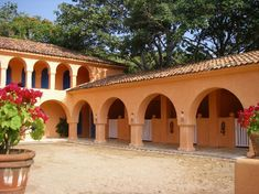 Beautiful stables in Cuixmala, Careyes, Mexico.
