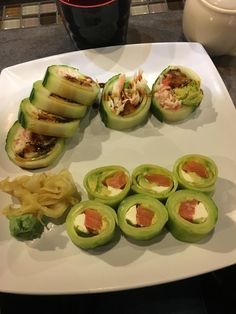 Just had cucumber wrapped sushi... delicious!! : 1200isplenty