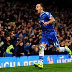 John Terry celebrets after scoring for Chelsea, with a comeback win, 3-1 at home to Southampton on Sunday at Stamford Bridge.