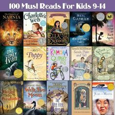 100 must reads for 9-14 year olds