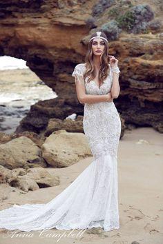 robes de mariée sirène en style vintage par Anna Campbell