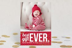 Bestest Gift Ever Holiday Photo Cards by gracegraceface at minted.com