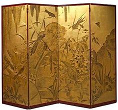 Leon Jallot, Art Deco Four-Panel Lacquered Screen