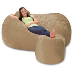 6 foot bean bag chair wheelchair vector lounger couch lounges