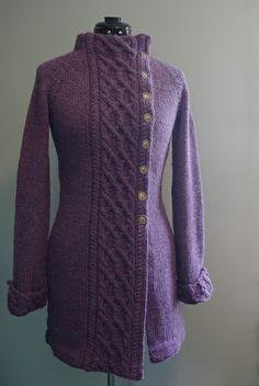 Sweater coat - Alpaca or Keeshond yarn - by ms.cleaver, via Flickr