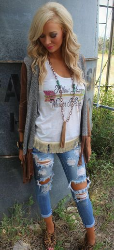 Get an extra 10% off with code KELSEYR10 at checkout! http://www.thelacecactus.com/desert-wind-fringe-cardigan/