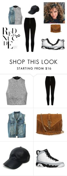 """""""Untitled #59"""" by qveenkiki on Polyvore featuring Topshop, Yves Saint Laurent, Vianel and Retrò"""