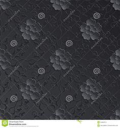 Vector Flower Seamless Pattern Element. Volumetric Stock Vector - Image: 54994214