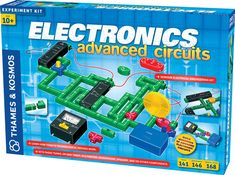 Tap into the world of electronics with this advanced system of snap-together electric building blocks! Kids will start out by experimenting with colorful light-up circuits as they dive into the basics of electricity, and learn how to install a sound module to generate the sounds of police cars, ambulances, or fire engines. Kids will learn all about the important role resistors and potentiometers (variable resistors) play in an electronic circuit. They will use a multimeter to measure…