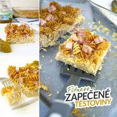 Fitness šunkofleky - zapečené těstoviny - zdravý recept by Bajola Pasta Noodles, Protein, Clean Eating, Good Food, Food And Drink, Healthy Recipes, Cooking, Breakfast, Smoothie