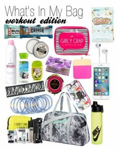 7 Must Have Items for Your Gym Bag - Women Fitness Magazine : my bag workout edition Travel Bag Essentials, Workout Essentials, Workout Gear, Workouts, Track Bag, Girls Mac, Bag Women, Gym Accessories, Gym Tips