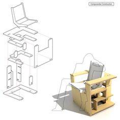 chair bookcase bookcase chair - Furniture & Decor - Home & Office - Yanko Design Home Office, Bookshelves, Bookcase, Compact Living, Yanko Design, Decoration, Furniture Decor, Sweet Home, Nerd