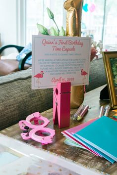 Adorable First Birthday Party Idea: Have guests bring something for a time capsule to be opened on 18th birthday!