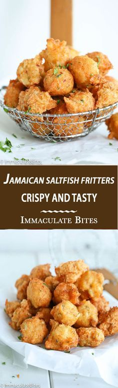Spiced Jamaican Saltfish fritters  (To make paleo - Omit sugar, replace flour with grated/grounded yuca (at least 1 cup cap packed), use minced garlic (1-2 cloves) instead of granulated garlic, use baking soda and acv/lemon instead of baking powder, add cilantro, and use coconut milk)