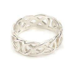 A fashionable celtic wedding ring with an attractive knotwork design, available in sterling silver, or 9, 14 and 18ct yellow or white gold