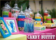 Plaza sésamo candy buffet
