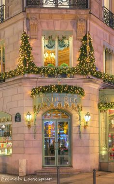 Laduree Paris. We had very delicious (and very expensive) coffee and dessert here. Beautiful place!