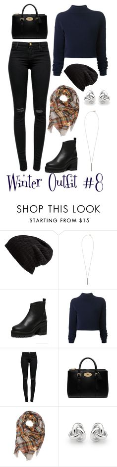 """""""Winter outfit 8"""" by megan-walz21 ❤ liked on Polyvore featuring Free People, French Connection, Dion Lee, J Brand, Mulberry and Georgini"""