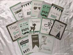 Milestone Baby Card - 12 Cartes étapes moments importants de bébé