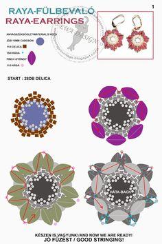 Ewa gyöngyös világa!: Raya minta 1. / Raya pattern 1.