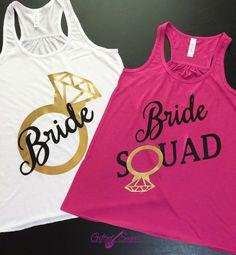 Bachelorette Party Shirts, Bridal Party Tanks, Bride Squad