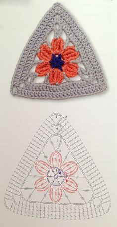 triangle crochet flower pattern