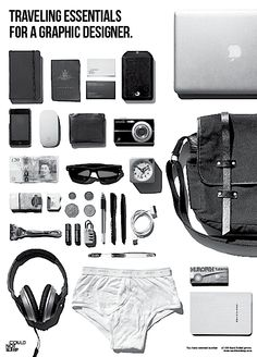 Traveling Essentials for a Graphic Designer // Brands like us*