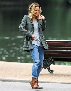 "Kate's ""Good"" Fun Kate Hudson chuckled filming Good People (costarring James Franco) in London July 2."
