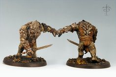 """Troll Chieftain, Games Workshop's """"Lord of the Rings"""" line Chaos Legion, Warhammer Figures, Battle Games, Game Workshop, Fantasy Miniatures, Armies, Sci Fi Fantasy, Middle Earth, Lord Of The Rings"""