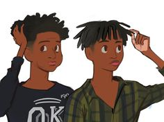 Bookmarks / Twitter Foto Cartoon, Dope Cartoon Art, Cartoon Art Styles, Black Cartoon Characters, Hxh Characters, Logo Camp, Black Boy Hairstyles, Boy Hair Drawing, Arte Black