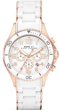 Marc by Marc Jacobs Rock Chronograph Silicone Ladies Watch - Sale! Shop at Stylizio for women's and men's designer handbags luxury sunglasses watches jewelry purses wallets clothes underwear & more! Michael Kors Bag, Michael Kors Watch, Jewelry Accessories, Fashion Accessories, Fashion Jewelry, Iphone 5c, Silicone Bracelets, Mk Bags, Oakley Sunglasses