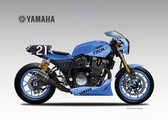 Racing Cafè: Design Corner - Yamaha XJR 1300 by Oberdan Bezzi Yamaha Xjr 1300, Yamaha Fz 09, Yamaha Cafe Racer, Cafe Racers, Ducati Pantah, Ducati Supersport, Ducati Scrambler, Honda Cbx, Honda Cbr 600