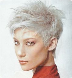 Ultra Short And Platinum This Very Spikey Sassy Hairstyle Design 596x643 Pixel