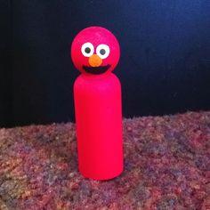 Elmo peg doll
