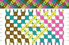 Normal Friendship Bracelet Pattern #6102 - BraceletBook.com