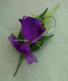 Purple Lisianthus Bouquet | PURPLE LISIANTHUS & PEARL CORSAGE-WEDDING-brides-buttonholes -bouquet ...