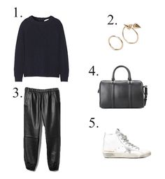 mama spree: how to wear leather joggers - www.littlespree.com
