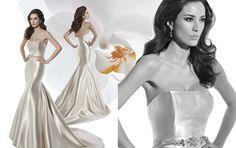 Illusion Style 3204 by Demetrios #MacysBridalSalon #chicago #bridal #gown #weddingdress #Demetrios