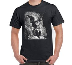 Fallen Angel Tshirt Dragon Angel Dante Inferno by FreakyTshirtShop