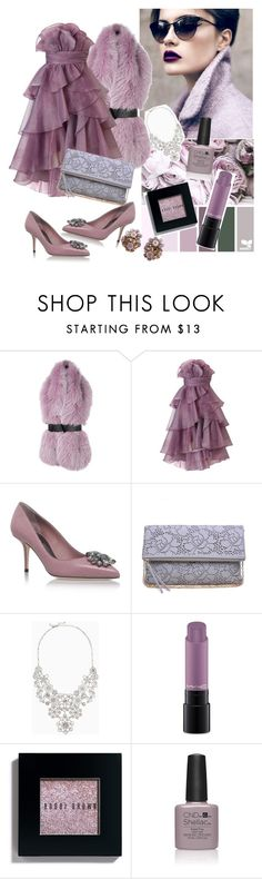 """""""dusty*rose"""" by ellyelly-o ❤ liked on Polyvore featuring Versace, Ariella, Dolce&Gabbana, Kate Spade, MAC Cosmetics and Bobbi Brown Cosmetics"""