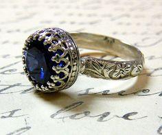 vintage sapphire engagement ring.